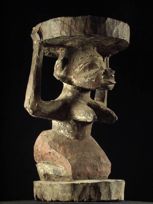 Tabouret Yoruba Polychrome - Yoruba - Nigeria - Sieges