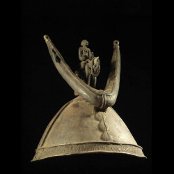 Casque bronze - Dogon -...