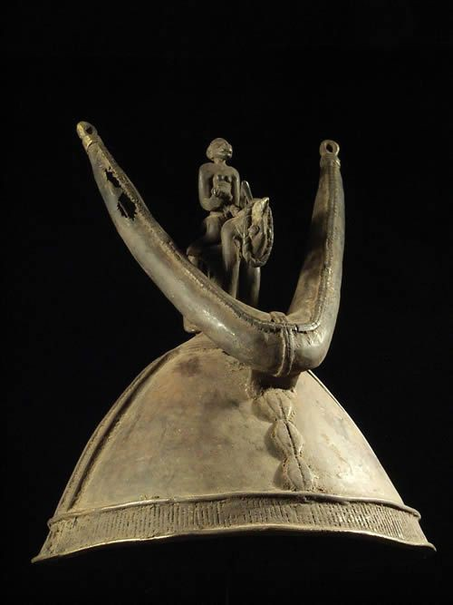 Casque bronze - Dogon - Mali - Bronzes Dogon