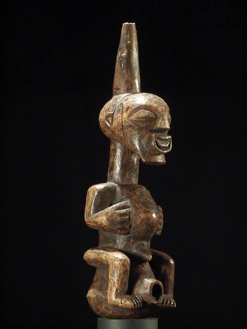 Pipe a tabac bois - Songye - RDC Zaire - Objets usuels