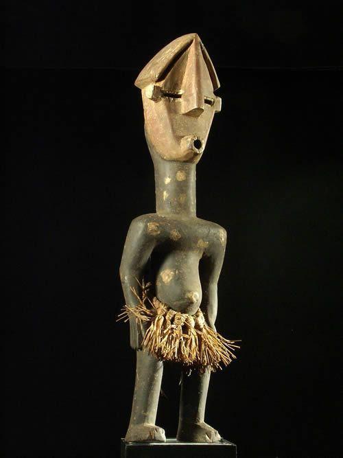 Statuette polychrome - Lwalwa - RDC Zaire