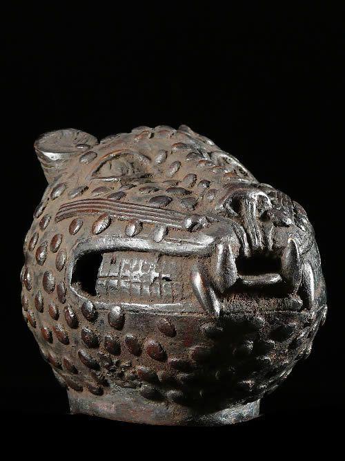 Leopard Royal Tete - Bini Edo - Nigeria - Bronzes Africains