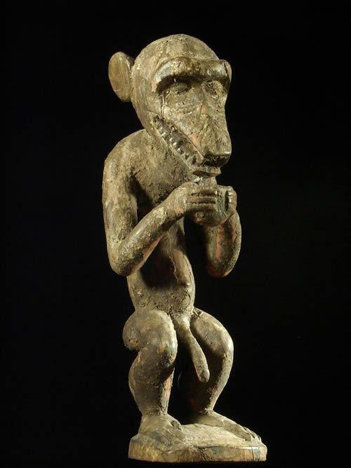 Singe M Botumbo - Baoule - Cote d'Ivoire - Statuaire africaine