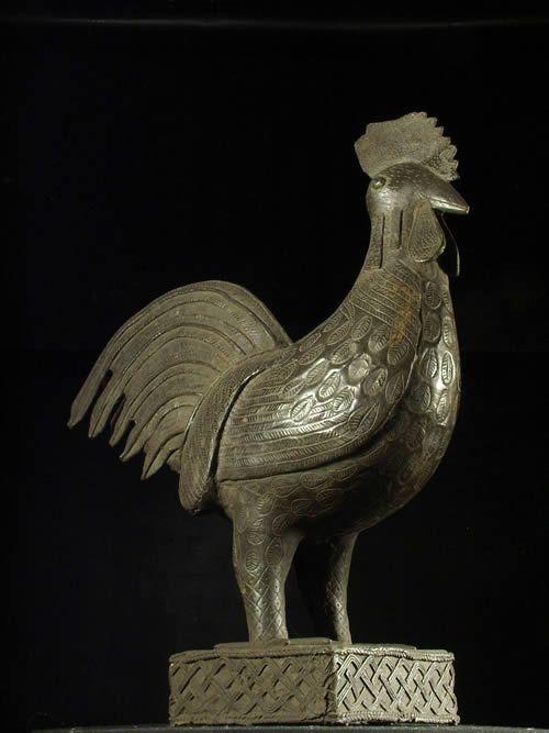 Coq en bronze Okpa - Bini Edo - Nigeria - Bronzes du Benin