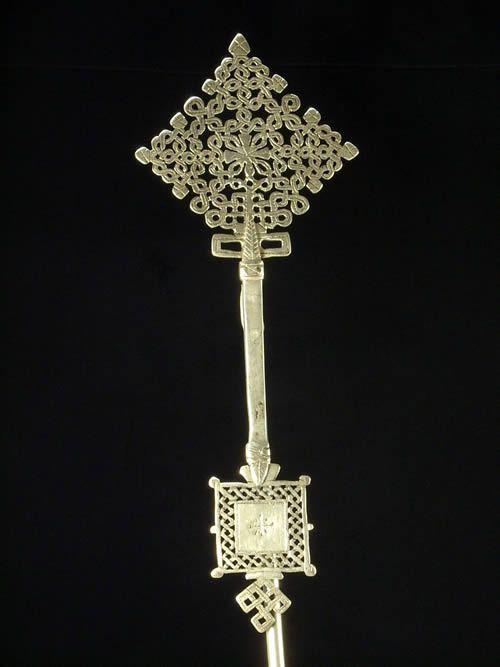 Croix personnelle Copte Maskal sans socle - Oromo / Amhara