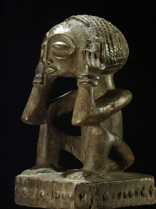Statue cultuelle ancetre - Chokwe - Angola