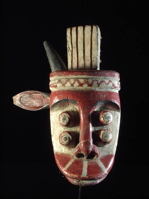 Masque cimier de guerre ancien - Ethnie Grebo - Liberia