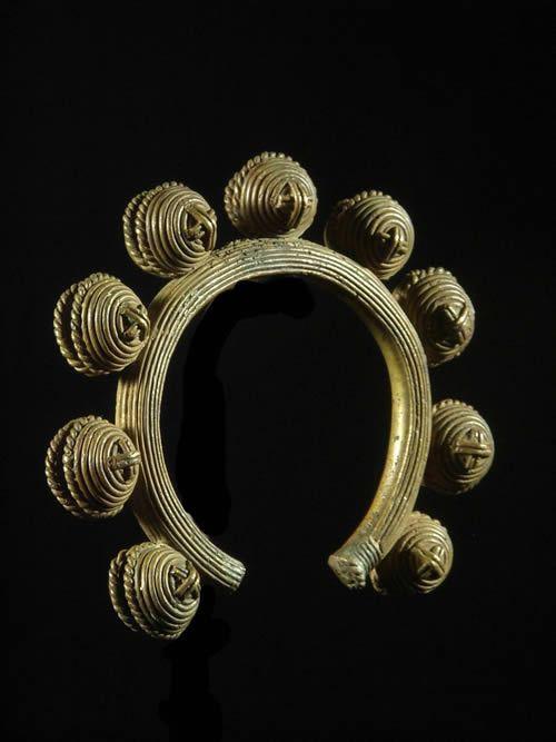 Chevillere a grelots en bronze - Dan - Côte d'Ivoire