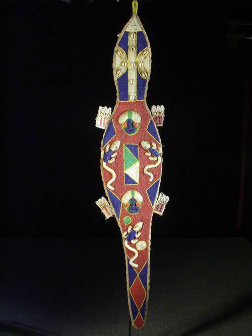 Decoration autel royal en perles - Yoruba - Nigeria - Afrique