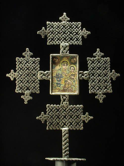 Croix Copte autel Maskal - Amahara - Ethiopie