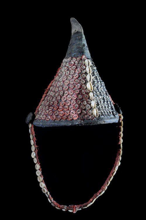 Chapeau coiffe ancien Bwami - Lega - RDC Zaire - Objets usuels