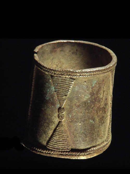 Bracelet monnaie en alliage de cuivre - Gounou / Gayak - Tchad