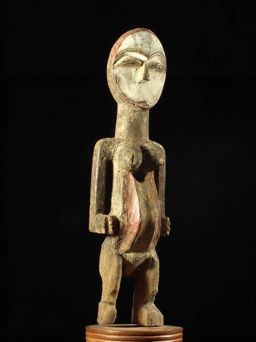 Statue reliquaire polychrome - Tsogho - Gabon