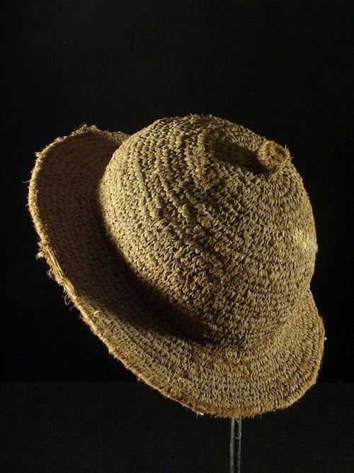 Chapeau de paille tresse ancien - Tamberma - Togo