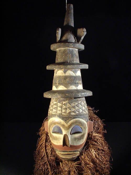 Masque Kholuka - Yaka - Rdc Zaire - Masques d'afrique