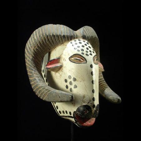 Masque zoomorphe belier -...