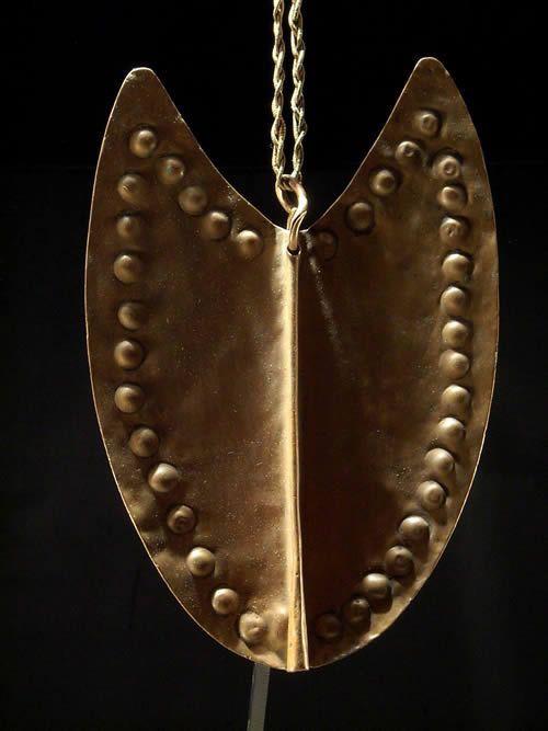 Parure pectorale en cuivre - Dinka - Soudan