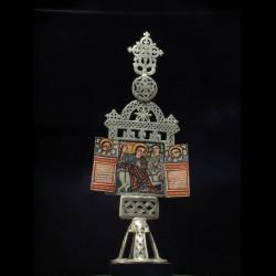 Reliquaire autel polychrome...