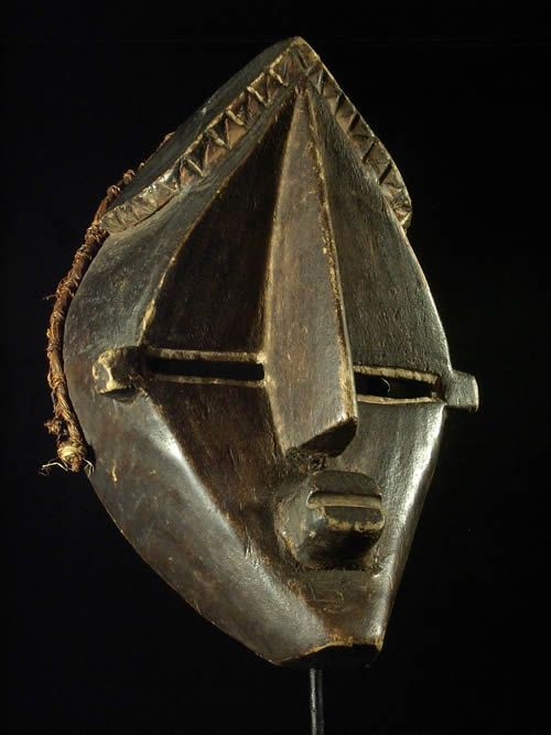 Masque Mfondo de chasse - Lwalwa - RDC Zaire - Masques africains