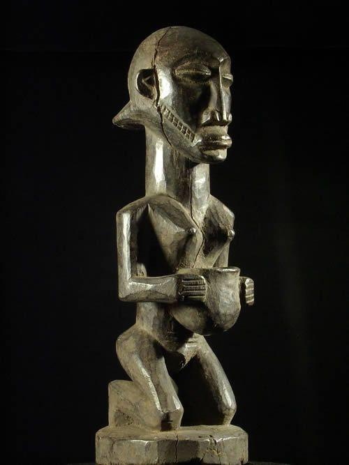 Statuette porteuse de coupe - Hemba - RDC Zaire