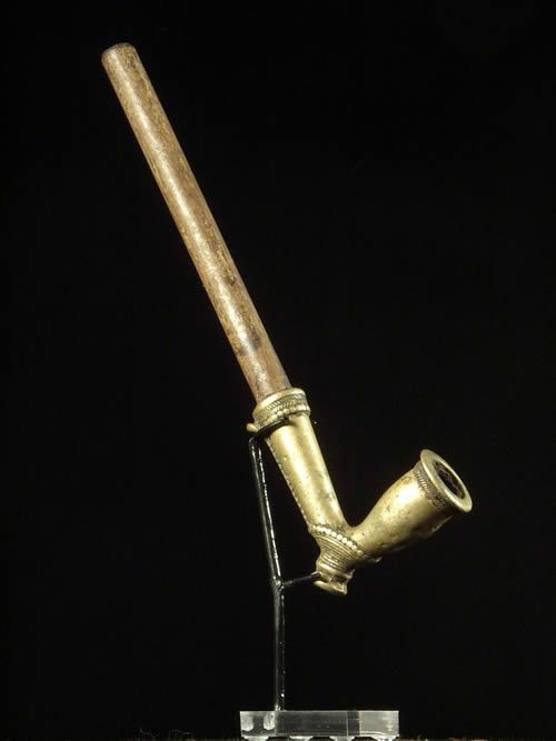 Pipe en laiton et bois - Kapsiki - Tchad / Cameroun