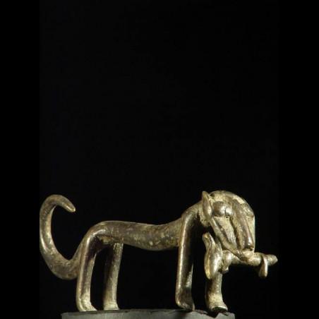 Figurine panthere bronze -...