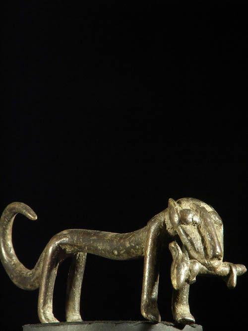 Figurine panthere bronze - Gan - Burkina Faso