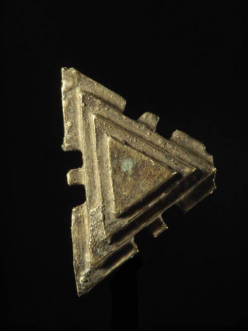 Poids triangulaire pour le commerce de l'or - Ashanti - Ghana