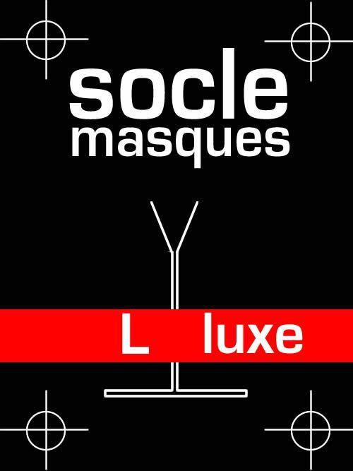Socle masque luxe en acier massif - taille L