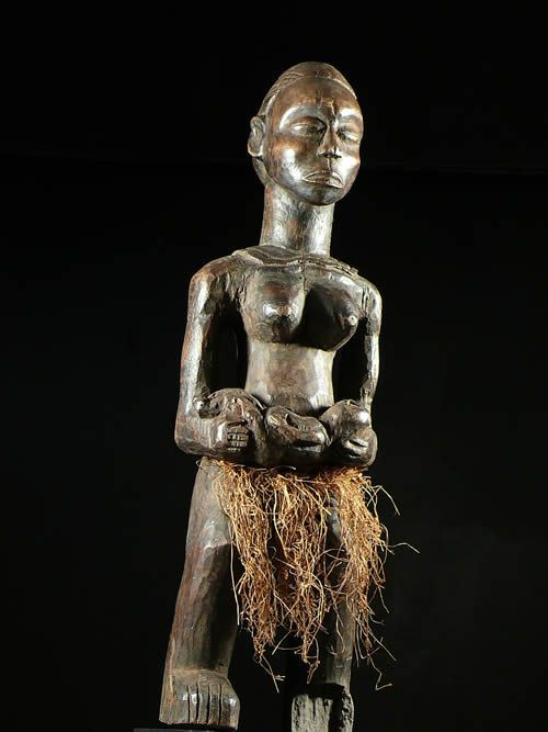 Statue Maternite - Mbala / BaMbala - RDC Zaire / Congo