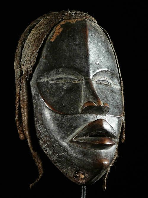 Masque de course ancien - Dan /Yacouba - Liberia - Masques afric