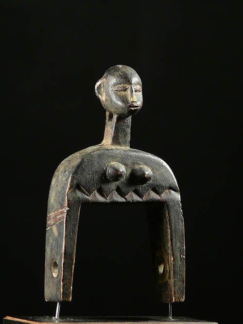 Poulie a tisser anthropomorphe - Lobi - Burkina Faso - Poulies