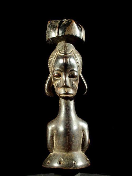 Statuette cimier - Baoule - Côte d'Ivoire - Masques cimiers