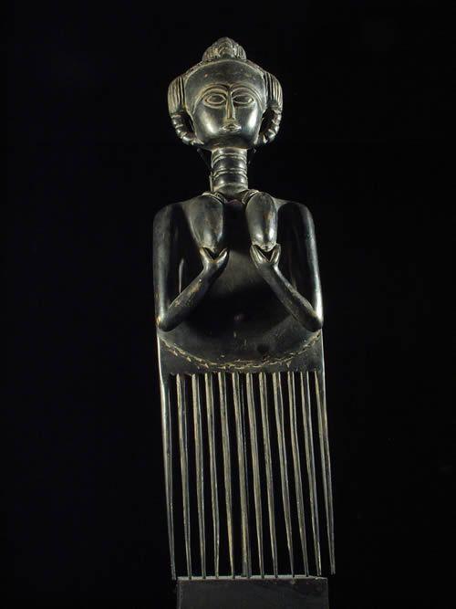 Peigne de prestige - Ashanti - Ghana - Coiffures