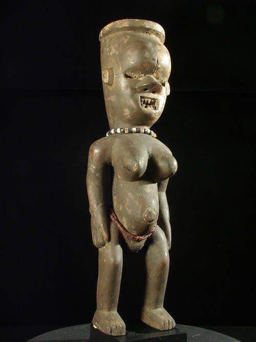 Rare Statuette - Salampasu - RDC Zaire - Statues africaines