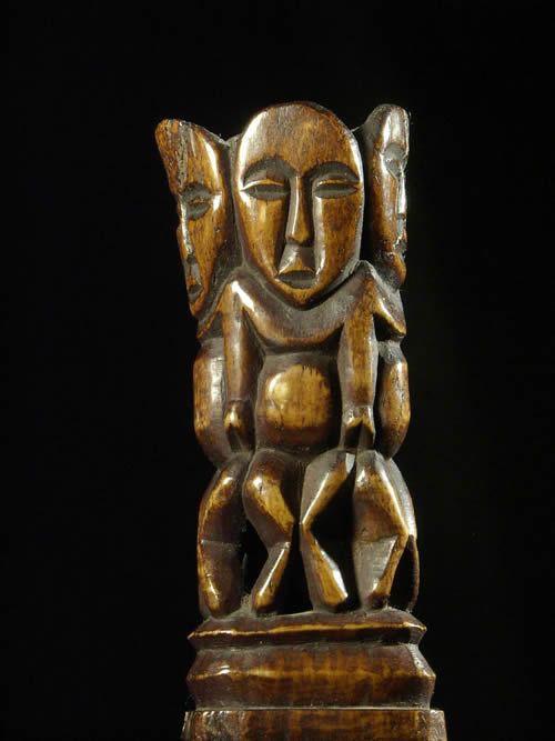 Statuette Bwami - Lega - RDC Zaire - ivoires et corne africaines