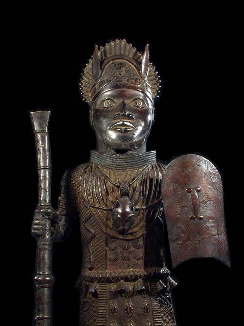 Grand Oba en Bronze Ife - Bini Edo - Nigeria - Bronzes Ife