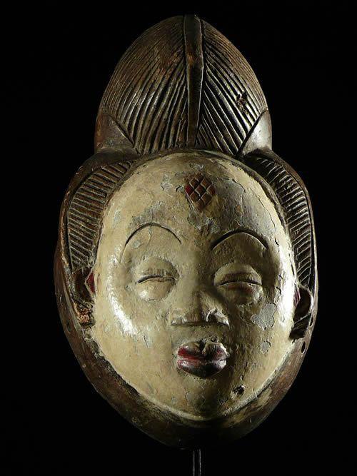 Masque Mukuyi - Punu / Pounou - Gabon - Masques Africains