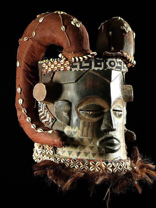 Masque casque Belier - Kuba / Bushoong - RDC Zaire