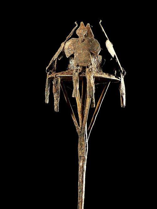 Asen aux oiseaux Osanyin - Yoruba - Benin / Nigeria - Fer noir
