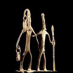 Couple en fer noir -...