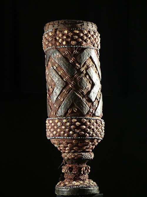 Tambour une peau - Ethnie Kuba Shoowa - RDC Zaire - Percussions