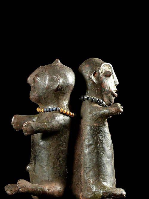 Statue cultuelle janiforme - Pere - RDC Zaire