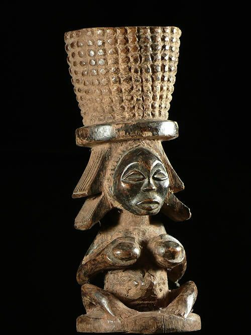 Mortier a chanvre ou tabac - Luba / Shankadi - RDC Zaire
