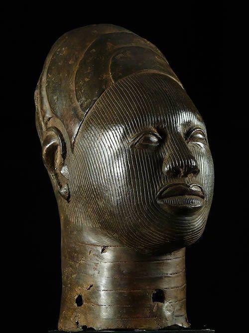 Tete commemorative Oba Bronze Ife - Bini Edo - Benin