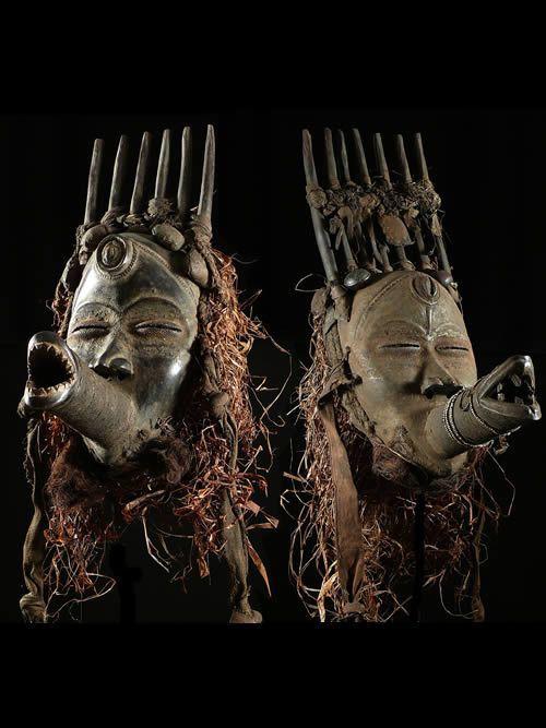 Masques anciens Chasseur Sipilou - Dan / Yacouba - Liberia