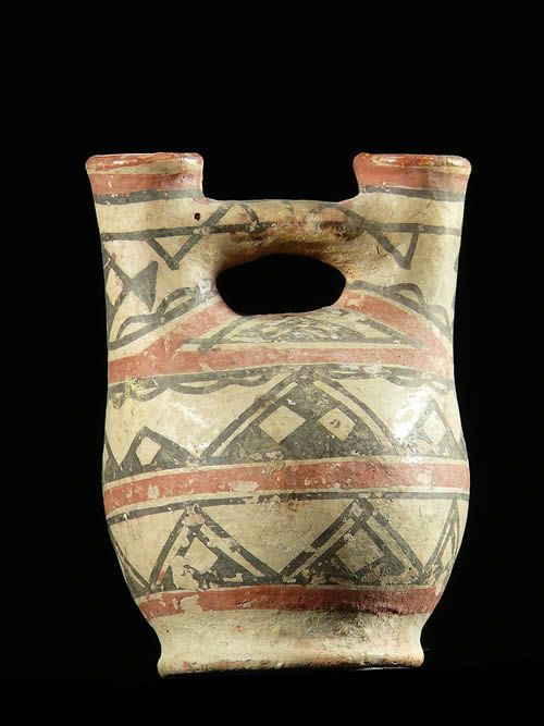 Petite poterie polychrome Ideqqi - Berberes - Afrique Nord