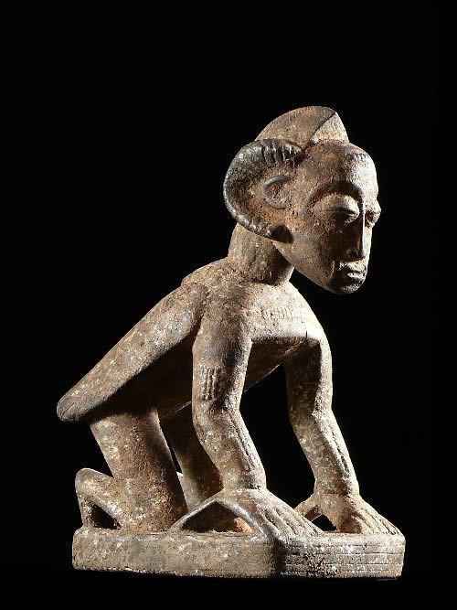 Statue anthropomorphe de devin - Baoule - Côte d'Ivoire