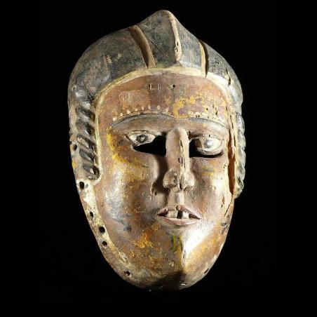 Masque polychrome ancien -...