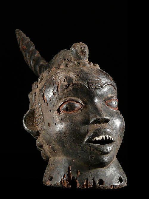 Masque cimier reliquaire ancien - Idoma - Nigeria